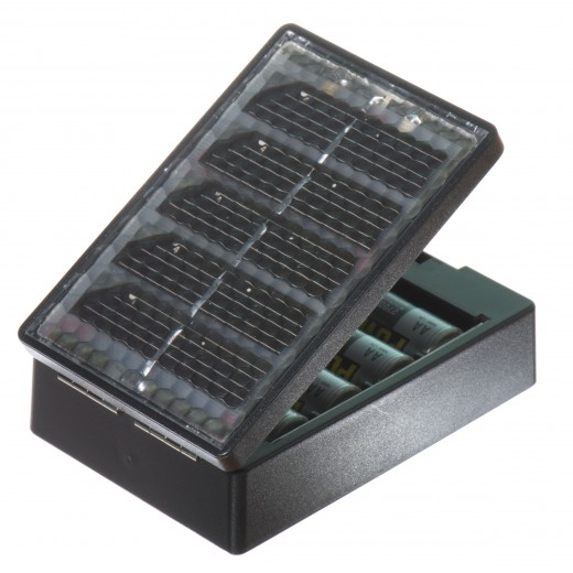 Solar charger for AA baterries.