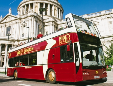 London Bus tours are a great way to get around the city.