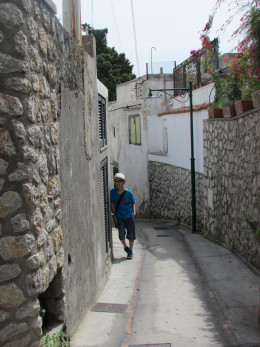 Exploring the back streets in Capri