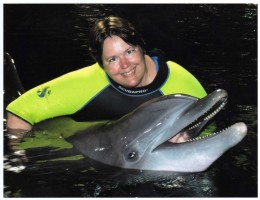 Me with one of Epcot's dolphins
