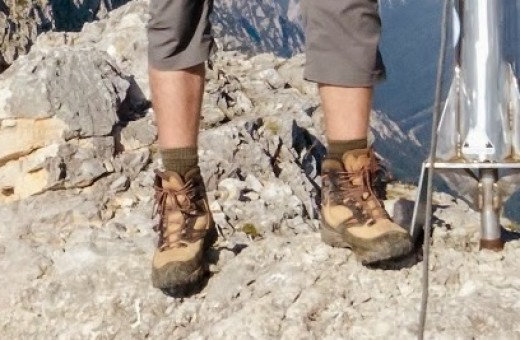 Hiking socks in action...