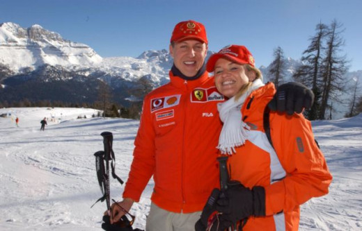 Michael and Corinna Schumacher in 2003