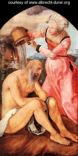 Job on the Dunghill, with his Wife, Albrecht Dürer (1471-1528)
