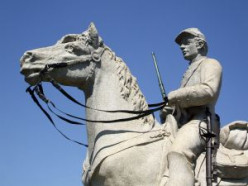 Statue of a Civil War Soldier at Gettysburg