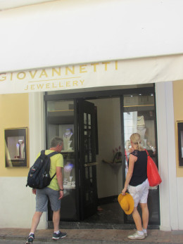 A very expensive jewellers in Capri Town