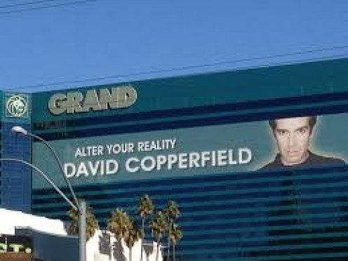 Illusionist David Copperfield has his face plastered all over hotels and casinos in Las Vegas where her is a star. He also puts on performances in other countries too!