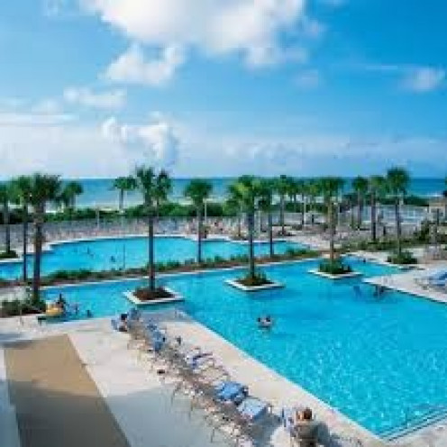 The pools at Myrtle Beach come in all kinds of shapes and sizes and laying in the sun poolside is the order of the day.