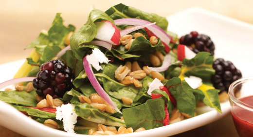 This light and tasty salad is sure to get things going.