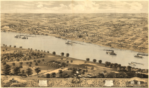 Sketch of Jefferson City, Missouri from the 1860s