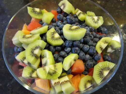 Raw foods fruit salad