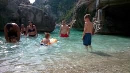 We all went swimming at beautiful Marina Piccola - who could resist?