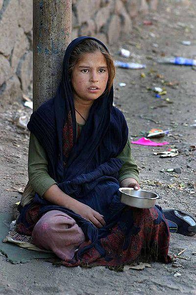 Indian Girl Begging