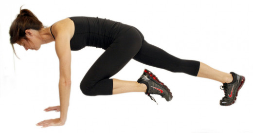 Mountain climbers - a popular HIIT workout exercise
