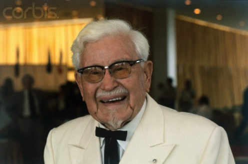 Col. Harlan Sanders, founder of Kentucky Fried Chicken