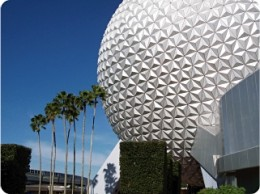 Two parks in one are anchored by Spaceship Earth at EPCOT's main entrance.