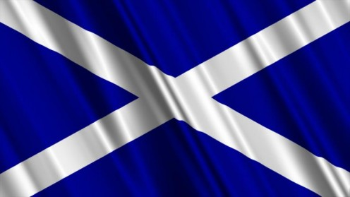 The Scottish National Flag. One of the oldest flags in the world. It is the flag of St Andrew the patron Saint of Scotland.