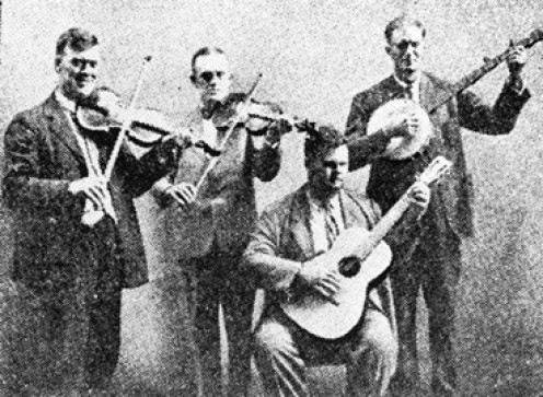 Riley Puckett from Alpharetta (seated) performed with The Skillet Lickers in the 1920s.