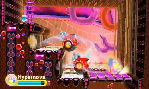 Kirby's Hypernova power in action.