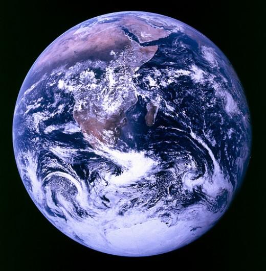 Courtesy: NASA photo, taken on December 7, 1972, Appollo 17 mission