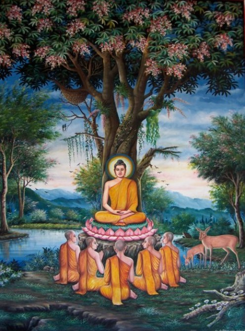 Siddhartha starts his meditation