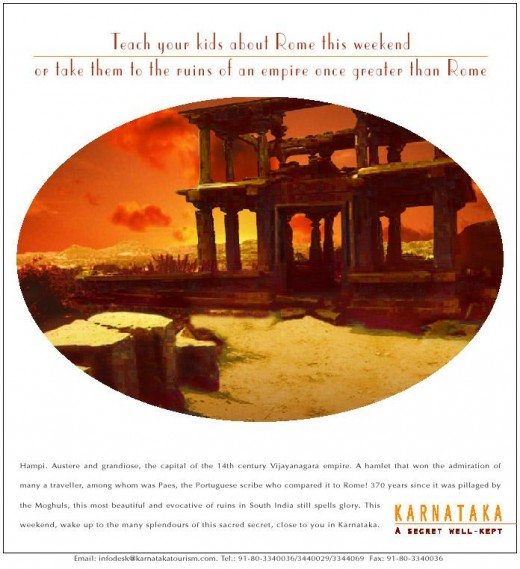 My Ad For KSTDC - Travel to Hampi