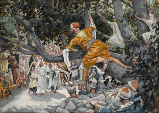 """Zacchaeus in the Sycamore"" by James Tissot"