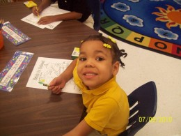 Anaya's first day of school - the date is wrong lol