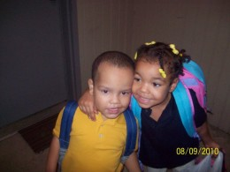 Anaya and Ayden going to school together