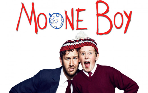 Chris O'Dowd and David Rawle as Sean and Martin respectively, in the hit show from the Emerald Isle, Moone Boy.