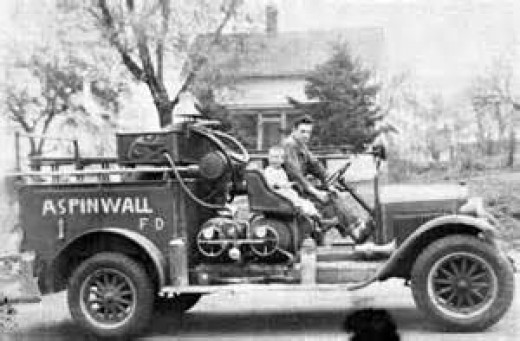 Fire Truck in Aspinwall in the early years.