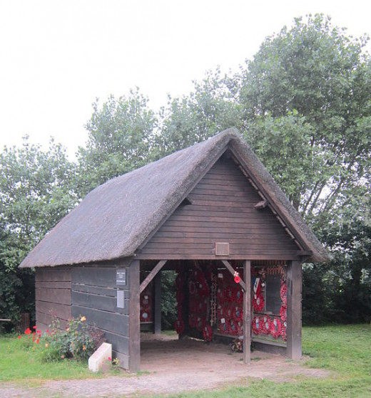 This is the rebuilt cow shed at Wormhout, that now acts as a memorial to the massacre that occurred over seventy years ago.