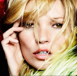 Kate Moss has wide spaced eyes.
