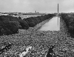 View of Crowd at 1963 March on Washington National Mall by the Reflecting Pool
