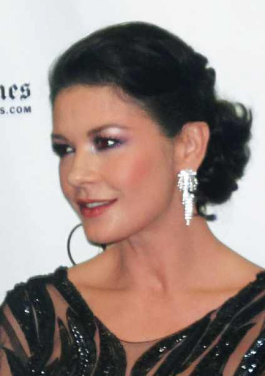 Catherine Zeta-Jones: hooded eyes