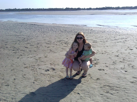 My daughter, my son & I at the Matanzas Inlet.