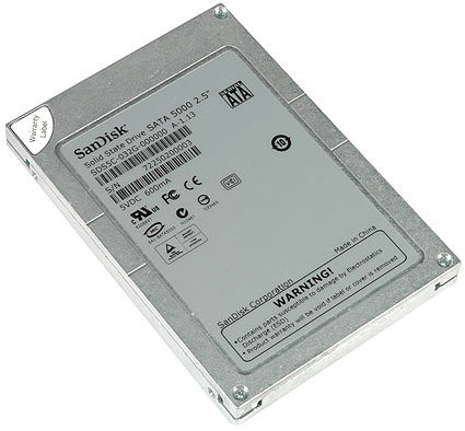 The SanDisk SATA 5000: One of the first 32GB solid state drives