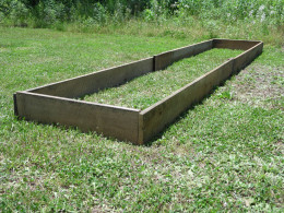 Yet to be filled raised bed.