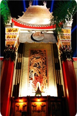 Exceptional replica on Mann's Chinese Theater plays host to the Great Movie Ride attraction.