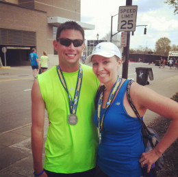 My wife and I after we finished the race!