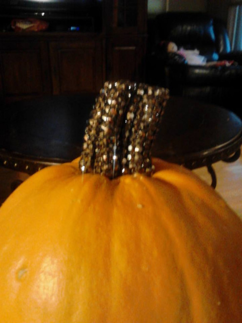 Yes I actually blinged out the handle of our pumpkin!