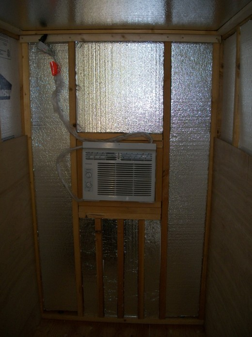 Insulation in the rear wall