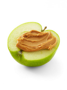 Peanut butter on apples can be a healthy, low-calorie snack. Plus, it's easy to make!