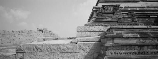 The Festival Platform, Hampi Around Which  Dussehra Festivities Took Place Features In My Short Story 'City of Victory'