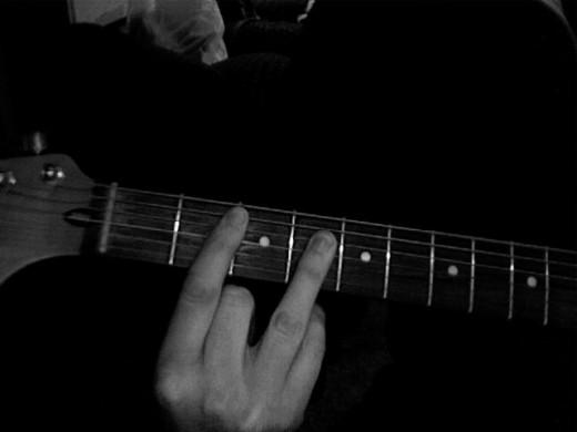b guitar chord  diagrams