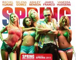 Movie poster for Spring Breakers starring Selena Gomez