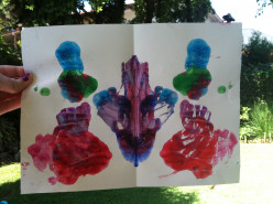 Creating an Ink Blot Picture with Toddlers
