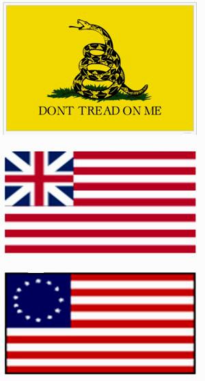18 century U.S. flags