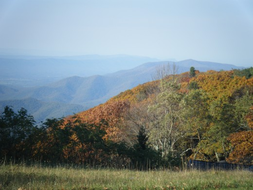The mountains in western Virginia a peaceful and a great place to go to relax and think about what you want from life.