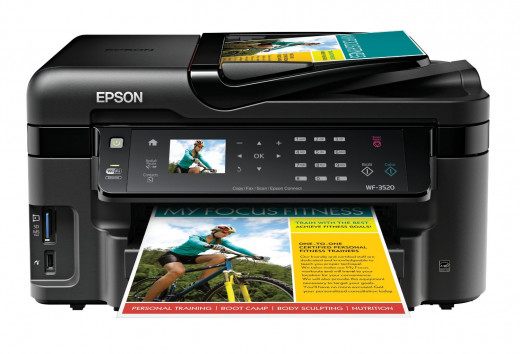 Epson WorkForce WF-3520 Wireless All-in-One Color Inkjet Printer