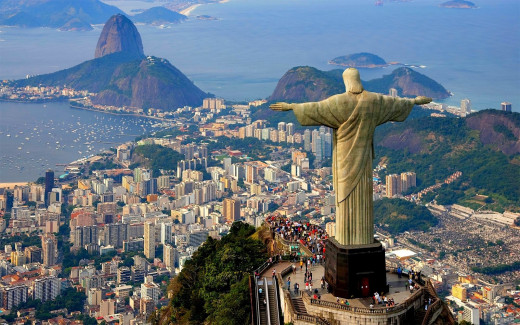 One of the nine great wonders of the world: The statue of Christ, the Redeemer in Rio De Janiero.